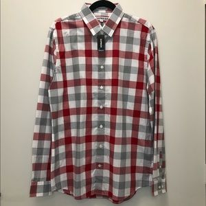 Express Extra Slim Fit Plaid Dress Shirt